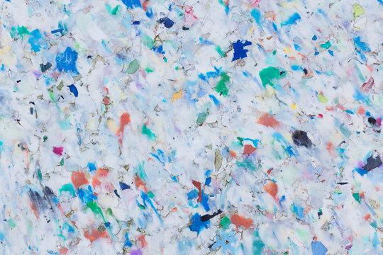 Bunte Recycling-Plastik-Platte Hintergrund