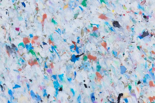 Verschmolzene mehrfarbige Recycling-Plastik-Pellets Hintergrund