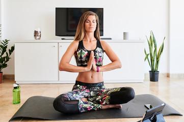 Yoga e-learning lessons.
