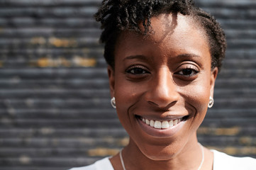 Afro woman portrait.