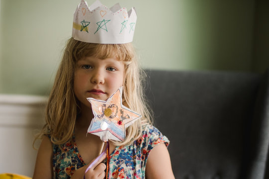 blonde girl with crown