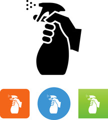 Hand Holding Disinfectant Spray Bottle Icon