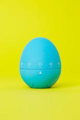 Blue egg shaped egg timer