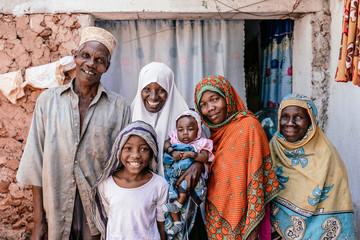 Portrait of a traditional family from Zanzibar