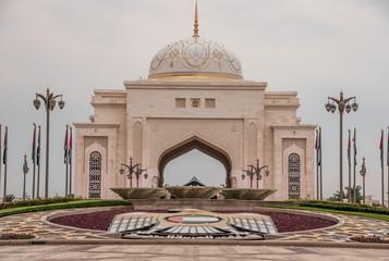 Canvas Prints Abu Dhabi Qasr Al Watan, the entrance of Presidential Palace. Taken in Abu Dhabi/UAE, November 10.2019