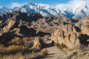 Off-roading in the rugged Sierra Nevadas