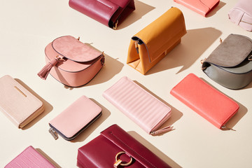 Stylish leather purses and bags
