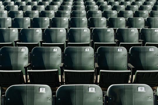 Abandoned Stadium Seats