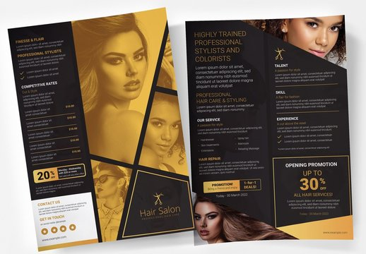 Black and Gold Poster Layout