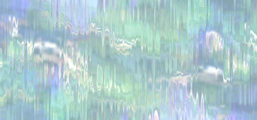 waterfall effect backdrop in green, blue and purple  Wall mural
