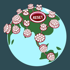 Reset button_pushed_stick man_connected_globe_dark background__by jziprian
