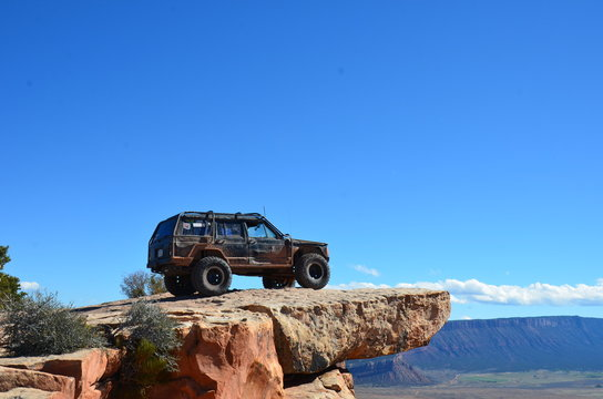 Jeep on Top of the World Moab Utah