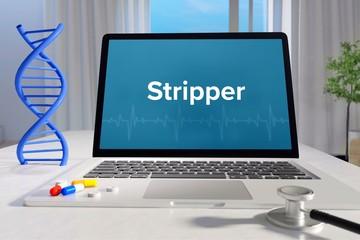 Stripper – Medizin, Gesundheit. Computer im Büro mit Begriff auf dem Bildschirm. Arzt, Krankheit, Gesundheitswesen