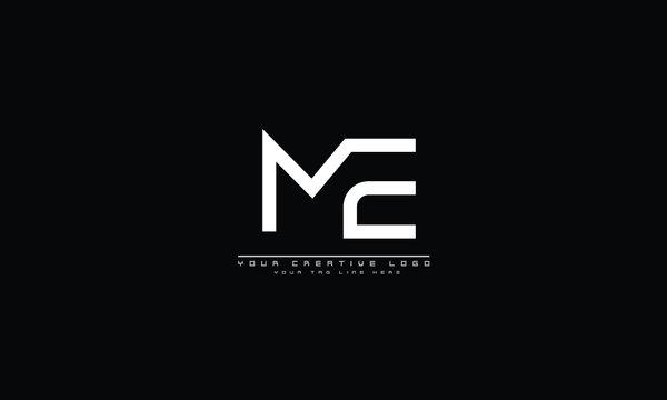 ME EM abstract vector logo monogram template