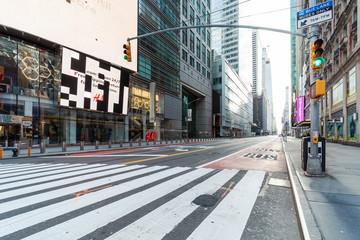 42nd Street NY during Corona Virus pandemic