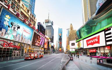 Times Square NY during Corona Virus pandemic