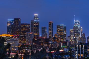 Downtown Los Angeles at Dusk Fotomurales
