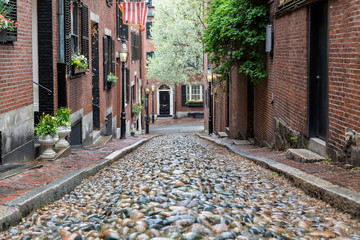 Canvas Prints Narrow alley A Spring Afternoon on Beacon Hill, Boston