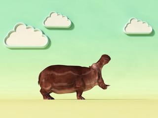 hippopotamus conceptual