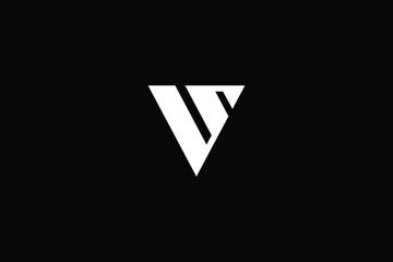 Minimal elegant monogram art logo. Outstanding professional trendy awesome artistic S V SV VS initial based Alphabet icon logo. Premium Business logo White color on black background