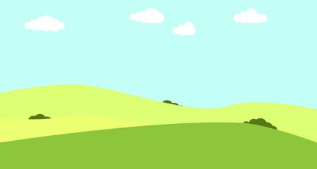 Printed kitchen splashbacks Light blue Fields and hills. Vector illustration. Farmland.
