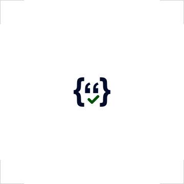 smile face logo coding symbol