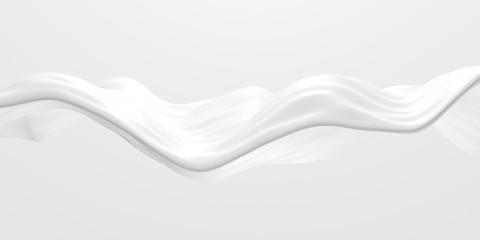 White abstract liquid wavy background