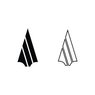Spear logo icon vector design
