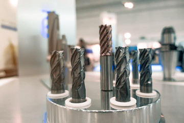 Solid carbide drills. Shallow depth of field. Selective focus