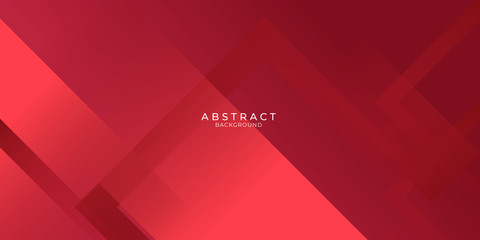 Abstract red business modern background gradient color. Red maroon and bright light gradient with stylish line and square decoration suit for presentation design.  Fotomurales
