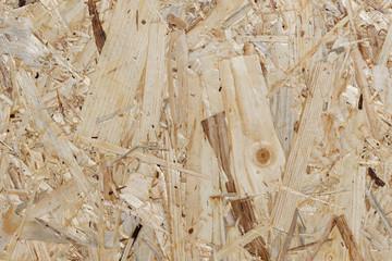 OSB-Bauholzplatte - Detailaufnahme Grobspanplatte