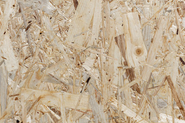 Recycling-Holz-Hintergrund eines OSB-Platte