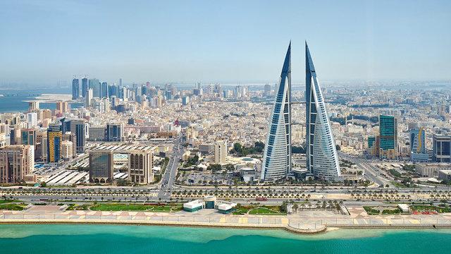 Panoramic view of Manama city in Bahrain