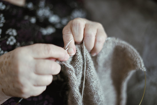 Beautiful hands of a old woman. Old woman's hands with wrinkles