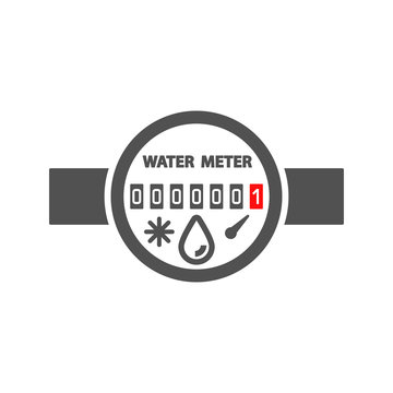 Water meter icon in flat style.Vector illustration.