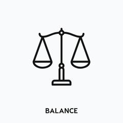 balance icon vector. balance icon vector symbol illustration. Modern simple vector icon for your design. balance icon vector