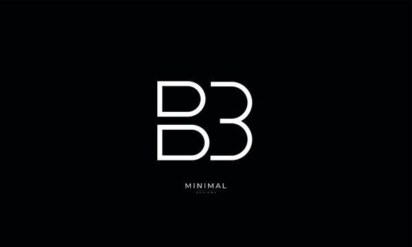 Alphabet letter icon logo BB