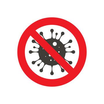Sign caution coronavirus