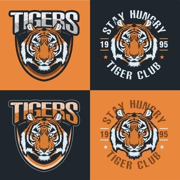 Tiger Badge Logo Head Illustration