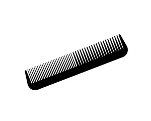 Flat vector comb icon. Barber, fashion, style.