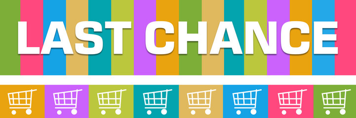 Last Chance Colorful Boxes Shopping Carts Horizontal