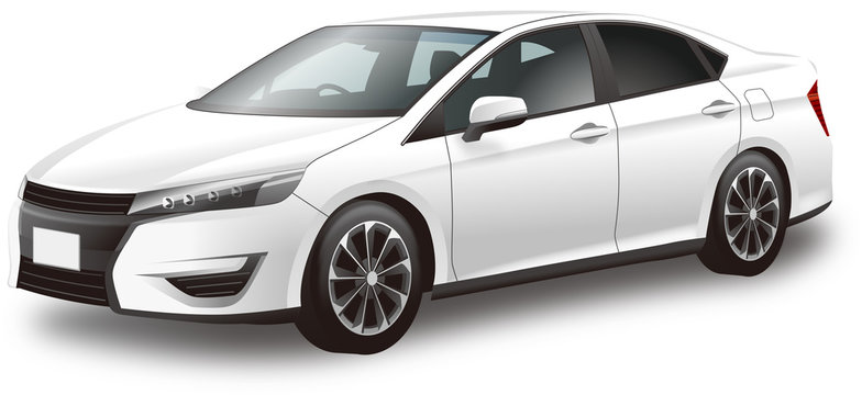 Car illustration sports sedan 自動車イラスト スポーツセダン