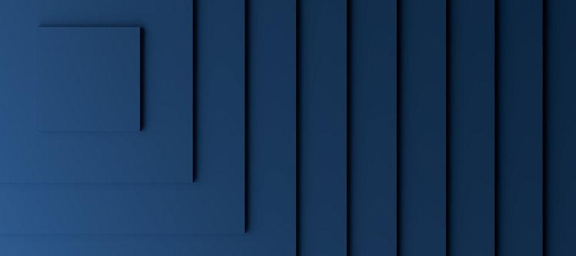 Dark blue modern background with three dimensional steps