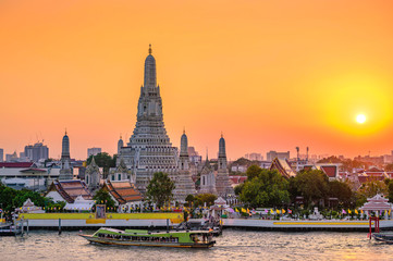 Poster Bangkok Wat Arun Temple in bangkok Thailand. Wat Arun is a Buddhist temple in Bangkok Yai district of Bangkok, Thailand