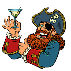pirate funny character. alcoholic cocktail