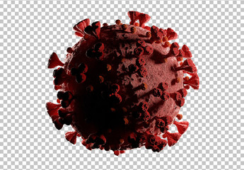 Microscopic View of Coronavirus Disease Mockup