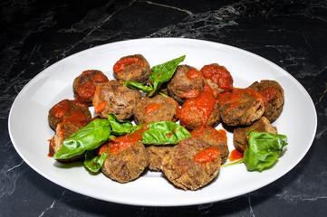 Vegetable (aubergines) balls