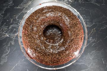 Carrot and chokolate cake