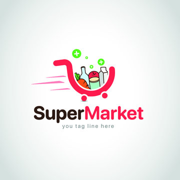 supermarket logo vector