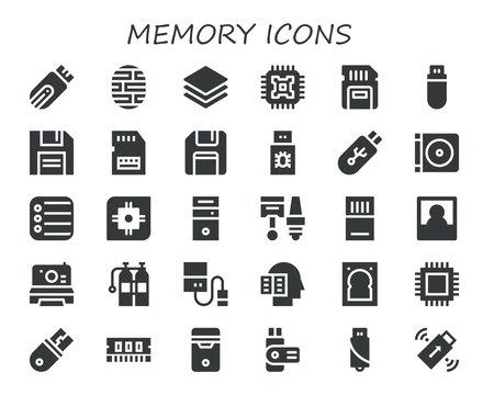 memory icon set